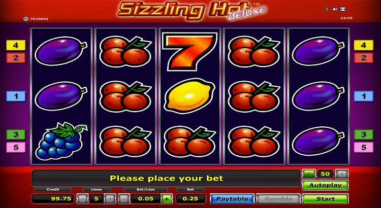 new online casino slot sizzling hot